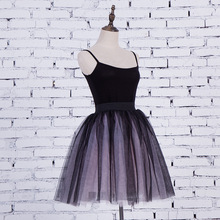 Womans 5 Layers 55cm Midi Casual Tulle Skirts females Fashion Pleated Sun Fluffy TUTU Skirts Women Lolita Petticoat Bridesmaids