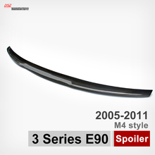 M4 style carbon fiber rear trunk spoiler car wing for bmw E90 and E90 M3