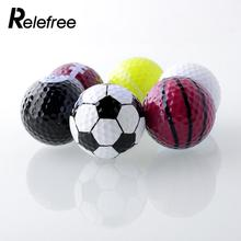 Set 6PCs Novelty Assorted Creative Champion Sports Golf Double Balls Joke Fathers Best Present Rubber Free Shipping(China)
