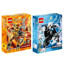 2 Boxes Chimaed Fire Phoenix King Master Tiger 816 action figure Building Block best gift for boy Compatible With Legoing LR-609(China)