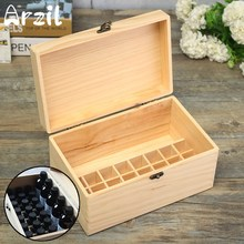32 Bottles Wood Box Essential Oil Storage Case Aromatherapy Container Carry Jewelry Organizer Holder Boxes Home Gift(China)
