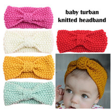 newborns girl knit crochet headband warm headbands hair accessories for Woolen headbands hairband kids ornaments headwear