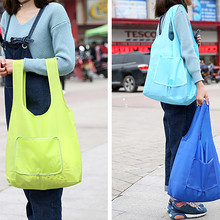 Large Capacity Creative Folding Thickened With Tote Oxford Cloth storage Bags  Convenient shopping  bag