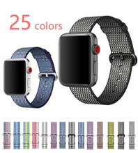Sport woven nylon band strap for apple watch 42 mm/38 wrist braclet belt fabric-like nylon band for iwatch 3/2/1/Edition(China)