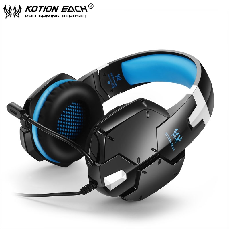 3pcs Wired Headband Game Headphones for PC KOTION EACH G1200 Gaming Headphone with Mic Stereo Bass Laptop Mobile Phones Headset<br><br>Aliexpress