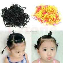 300pcs Girl Baby Ponytail Hair Accessories Small Disposable Rubber Hair Band -B116