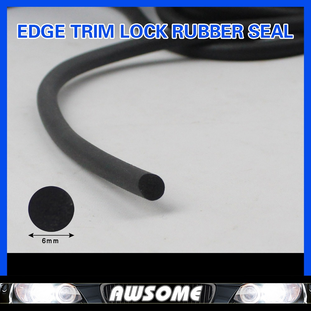 "2PCS 79"" 200cm O Strip Car Window Rubber Edge Seal Strip EDPM PVC Tape Profile panels Edging Trim Silencer Foam Dust Resistance(China (Mainland))"