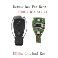 2Buttons 433Mhz Smart Remote Key Keyless Fob Mercedes BENZ 2000+ NEC&BGA style Auto Original Car keys