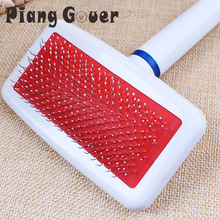 Pet Dog Comb Comfotable Brush Plastic Handle Puppy Cat Dog Massage Bath Brush Multifunction Pet Grooming Tool(China)