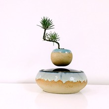 magnetic levitation air bonsai (no plant)ceramic flower small tree garden floating pots planters culture free shipping