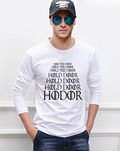 Game of Thrones HODOR Hold the Door men's long sleeve T-shirts 2016 autumn 100% cotton fitness hip hop loose Camisetas Masculina