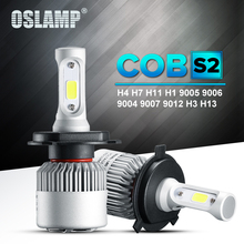 Oslamp H4 LED Headlight S2 COB 72W 8000LM H3 H1 H7 Led Car Bulbs Led H11 Fog Lamp 9007 9012 9005 9006 + Cooling Fan Plug-n-Play(China)