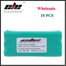 Wholesale 10x Eleoption 14.4 Volt 14.4V 2000mAh 2.0Ah Ni-MH Replacement Vacuum Battery for Libero Vacuum 0606004, M606