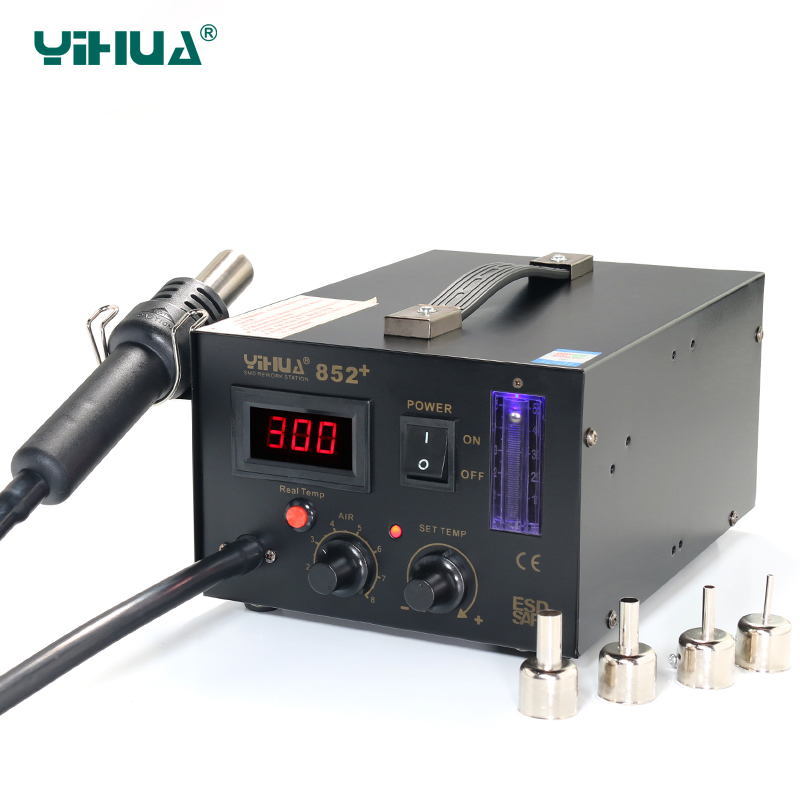 YIHUA 852+ Adjustable LED Hot-Air Soldering Station For Motherboard Repairing<br><br>Aliexpress