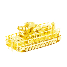 Railway Gun Gold and silver color 3D DIY laser cutting Tank model educational diy toys Jigsaw Puzzle best gifts for adult