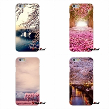 For Samsung Galaxy A3 A5 A7 J1 J2 J3 J5 J7 2015 2016 2017 Beautiful Cherry blossoms in Sakura Japan Silicone Case