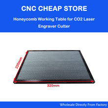 Laser Enquipment Parts Honeycomb Working Table For CO2 Laser Engraver Cutting Machine Shenhui SH K40 Stamp Engraver 320x220mm(China)