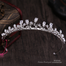 Fabulous Simple Elegant Gorgeous Leaf Water Drop Royal Tiaras And Crowns Peacock Zirconia Zircon CZ For Kids Girl Wedding Gift(China)
