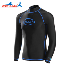 Long Sleeve Lycra UPF 50+ Rash Guards For Men Body Suits Snorkeling Diving Jacket Skin Anti-UV Wear Surfing Sports Clothes