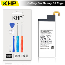 NEW 2017 100% Original KHP EB-BG925ABE Phone Battery For Samsung Galaxy S6 Edge G9250 G925F Battery Replacement Mobile Battery(China)