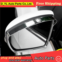 D_YL car styling For Ford Kuga Escape chrome Rearview mirror trim 2013-2015 For Kuga Rain shield stickers eyebrow Rain shield