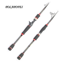 2017 Telescopic Carbon Fishing Rod Pod Spinning Rod Casting Rods Lure Fishing Pole FLy Fish Tackle Fish Pole Olta Peche E228(China)
