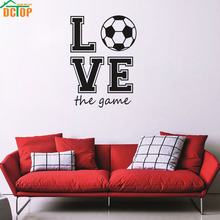 Love Football The Game Vinyl Creative Art Wallpaper Sport Wall Decals Adesivo Accessory Bedroom Decor Furniture Stickers(China)