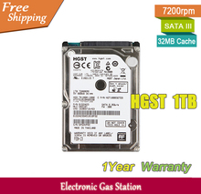 Original Laptop Hard Drive HGST 1TB 2.5 inches 7200rpm 32MB Cache SATA III 1000GB 9.5mm HDD(China)
