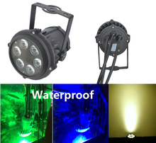 2XLot High Quality LED PAR Light 6X10W RGBW 4in1 Outdoor Waterproof IP65 Mini PAR36 Stage Lights DJ Disco DMX Strobe Lighting