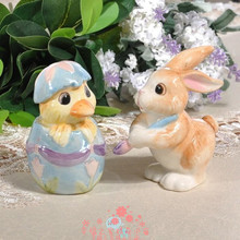 ceramic rabbit food container spice jar kitchen storage jar home decor porcelain figurines duck Salt and pepper cans Crafts gift(China)