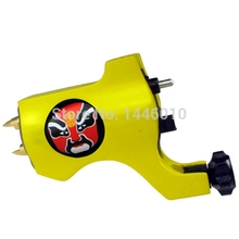 Crazy Newest Style Bishop Rotary Tattoo Machine Yellow Colors Tattoo Tachine For Liner and Shader Free Shipping