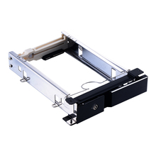 Uneatop 3.5in aluminum SATA drive case hdd tray hot swap 6Gbps internal mobile rack for media palyer hdd mobile rack(China)