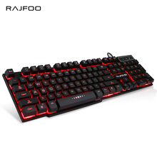 RAJFOO English Wired Gaming Keyboard with 3 Colors LED Backlit light Float Keycap for Desktop Laptop Macbook USB Teclado Gamer(China)
