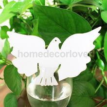 50 Beautiful White Dove Table Mark Name Place Card Wedding Party Favor Decor
