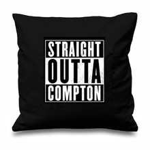 Black White NWA Straight Outta Compton Cushion Cover Fashion Rap Hip Hop Throw Pillow Case Cool Music Gifts Decor Two Sides 18""
