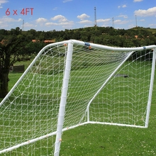 Portable Folding Football Soccer Goal Post Net Full Size 6x4 FT 1.8mx1.2m Sports Match Training Junior Polypropylene Fiber Net(China)