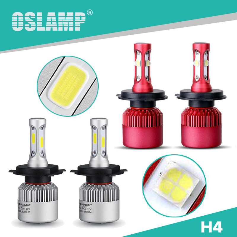 Oslamp Automobiles Hi-Lo Beam H4 Led Car Headlight Kits 2WD/4WD 1 Set Led Auto Head light Bulbs for SUV HB2 COB Chips Head Lamps<br><br>Aliexpress