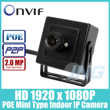 POE HD 1920 x 1080P 2.0MP Indoor IP Camera  Mini Type Security Metal Camera ONVIF P2P IP CCTV Cam System (Free Shipping)