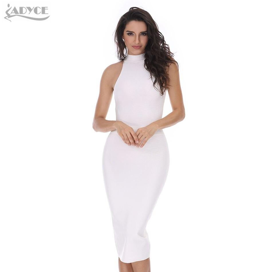 2017 new Summer runway midi dress white black o-neck sleeveless off shoulder knitted bodycon elegant women evening party dressÎäåæäà è àêñåññóàðû<br><br>