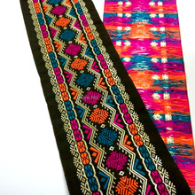 10cm 4'' Very Beautiful laciness national jacquard ribbon embroidery woven rhombus zigzag Snow flake pink blue filigree colorful