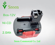 2000mAh 12V NI-CD Rechargeable Power Tool Battery Replacement for Bosch BAT139 BAT043 BAT045 BAT046 BAT049 BAT120 GSR12 PSR12