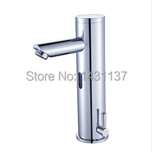 free shipping Fashion [B&R] Bathroom Brass Chromed hot and cold automatic sensor sink basin bathroom faucet(China)
