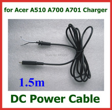 DC Power Supply Cable for Acer Iconia Tab A510 A700 A701 Tablet PC Charger DC Cable Around 1.5m(China)