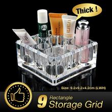 Cheap+49%off Transparent Acrylic Desk Cosmetic Lipstick Holder Makeup Nail Varnish Organiser EQC353(China)