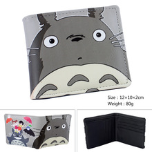 2017 Anime My Neighbor Totoro Wallet Girls Boys Billfold Short Leather Purse Slim Money Bag Student Wallets