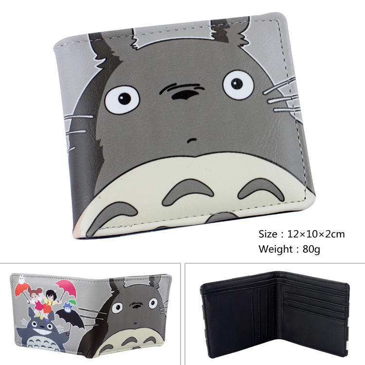 2016 Anime My Neighbor Totoro Wallet Girls Boys Billfold Short Leather Purse Slim Money Bag Student Wallets<br><br>Aliexpress