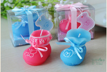 baby shower favor candle gift--Baby Shoes Candle craft candle baby favor birthday party decoration 100pcs/lot