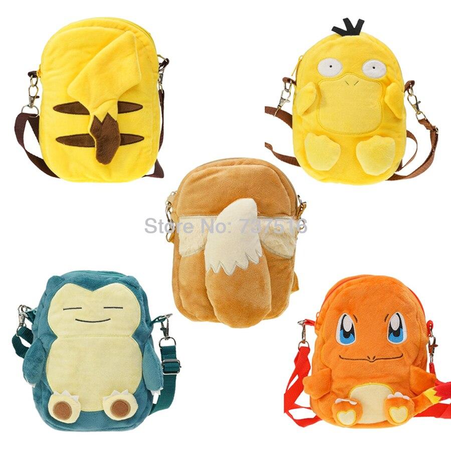 Pokemon Snorlax Backpack Shoulder Bag Plush Doll 8 Inch School Bag Boy Girl Gift