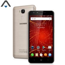 Original Doogee Y6C Quad Core 2GB RAM 16GB ROM mobile Phone Android 6.0 Fingerprint ID Smart phone 5.5 inch HD screen 3200mAh(China)