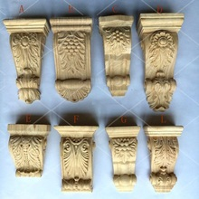 2Pcs/Lot FURNITURE ARCHITECTURAL WOOD CORBEL UNPAINTED CORBELS(China)